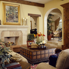 Mediterranean Living Room by The Fechtel Company