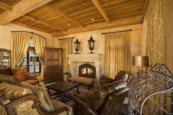 Mediterranean Living Room by Noel Cross+Architects