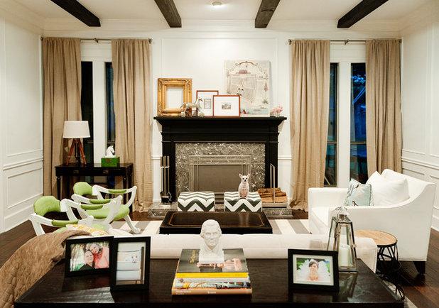 Eclectic Living Room Villa Vera Renovation