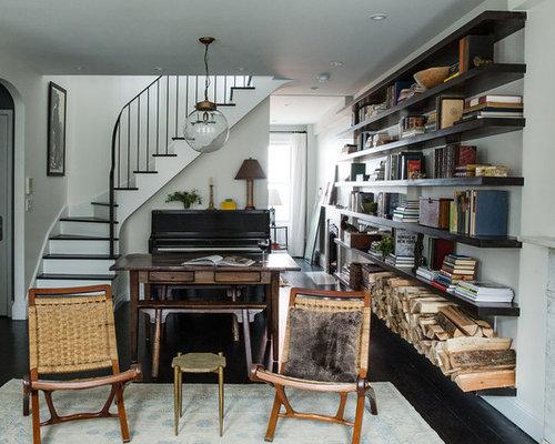 petit salon avec une salle de musique photos et id es d co de salons. Black Bedroom Furniture Sets. Home Design Ideas
