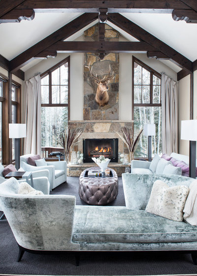 Rustic Living Room by Reed Design Group
