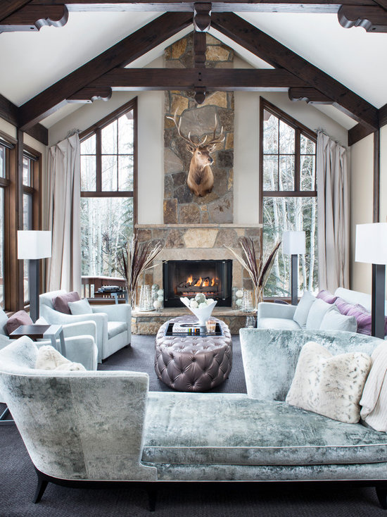 Rustic Living Room By Markham Roberts Inc By: Rustic Living Room Design Ideas, Remodels & Photos With