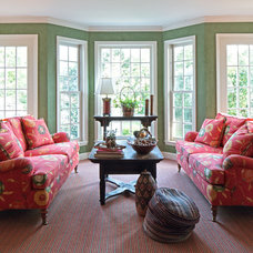 Traditional Living Room by FISHER HART