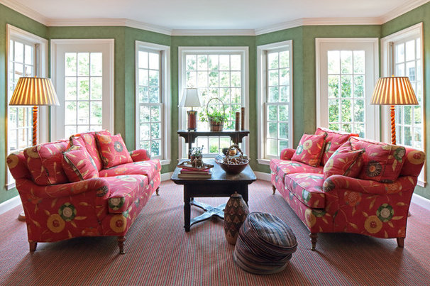 Traditional Living Room by Susan Fisher Photography