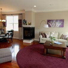 Traditional Living Room by W.B. Homes, Inc.