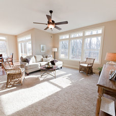 Traditional Living Room by Jim Tibbe Homes