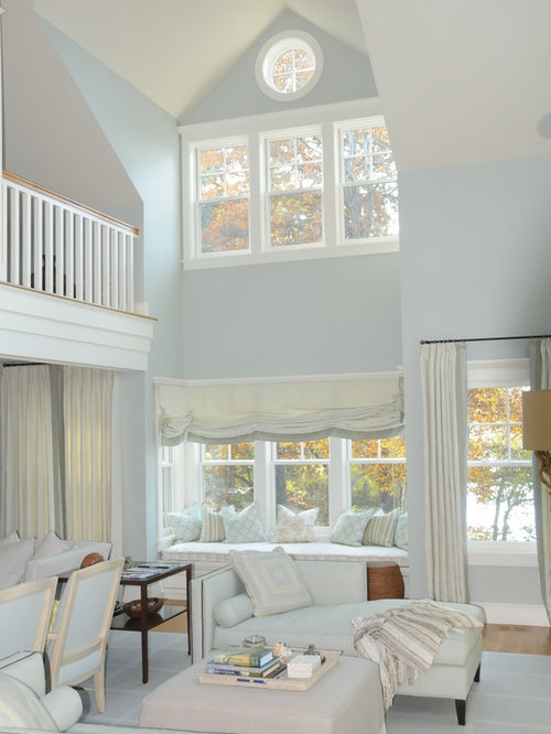 Light Blue Living Room | Houzz