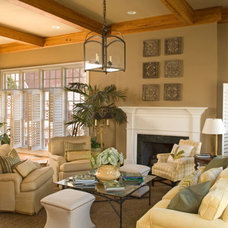 Traditional Living Room by Jennifer Orne