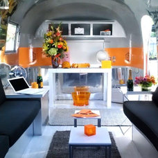 Contemporary Living Room Vintage Airstream Collection
