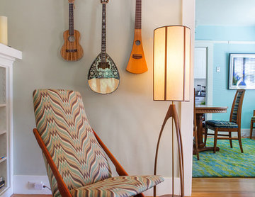 Vintage Bungalow:  Mid-century modern rocker by Kimball Starr Interior Design