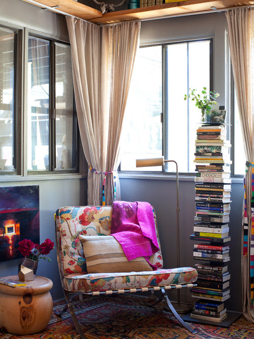Reading corner houzz Reading nook in living room