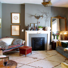 eclectic living room by Jenn Hannotte / Hannotte Interiors