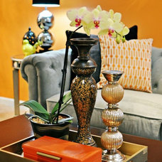 Eclectic Living Room by Nicole White Designs Inc