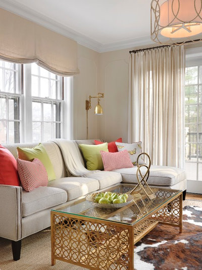 Traditional Living Room by Laura Lee Home