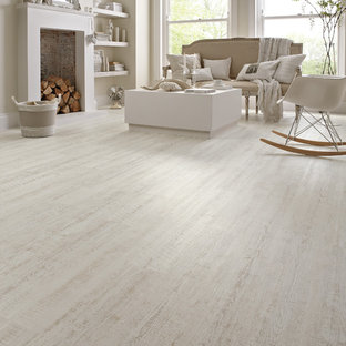 Design Ideas For A Large Scandinavian Formal Open Plan Living Room In San Go With White Save Photo Vinyl Flooring