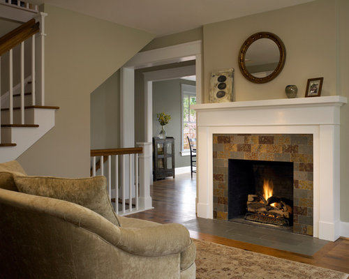Slate Mantel Home Design Ideas, Pictures, Remodel and Decor