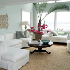 Beach Style Living Room by Lauren Mikus