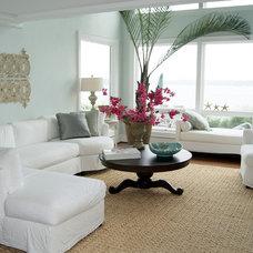 Beach Style Living Room by Lauren Mikus