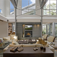 Contemporary Living Room by Dovetail Builders Inc.