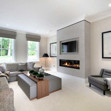 Contemporary Family Room by The L&C Company