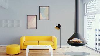 VITA Fireplaces AIDAN See-Thru | Suspended Fireplace