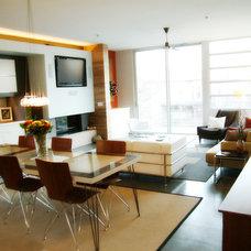 Modern Living Room by Framework Design, Inc.