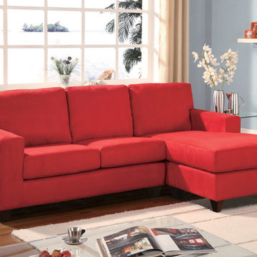 Vogue Red Microfiber Sectional Sofa - $682.43