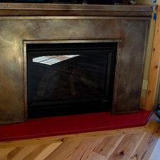 Contemporary Living Room by Milo's Art Metal, LLC