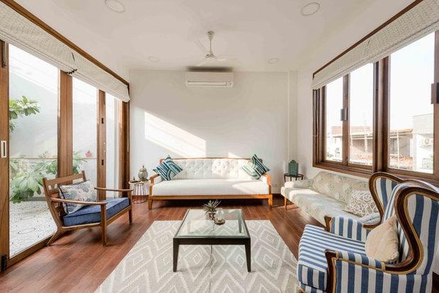 Asian Living Room by Shreya Krishnan Design