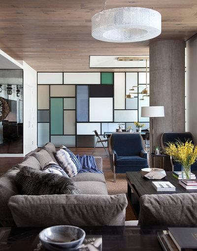 Contemporain Salon by Cravotta Interiors