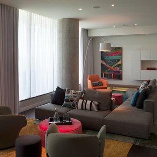 Ispirazione per un grande soggiorno moderno aperto