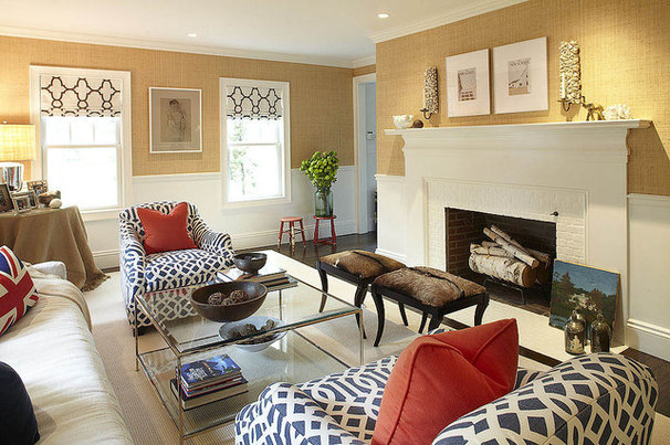 Eclectic Living Room by Hudson Interior Design