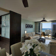 Contemporary Living Room by Archipelago Hawaii Luxury Home Designs