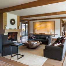 Beach Style Living Room by Sandvold Blanda Architecture + Interiors LLC