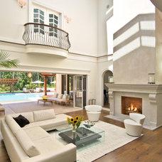 Mediterranean Living Room by Bridgehampton Broker
