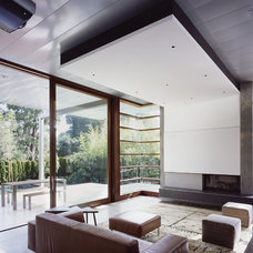 modern living room by Ehrlich Architects