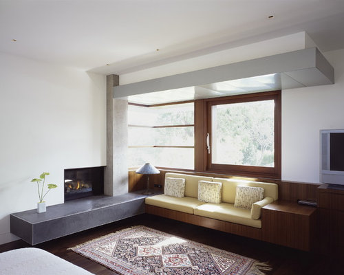 Built in fireplace benches home design ideas pictures for Modern living room built ins