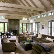 Transitional Living Room by Hutker Architects