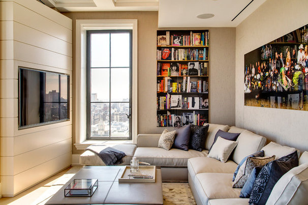 Transitional Living Room by SoJo design