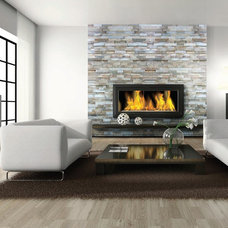 Contemporary Living Room by Surface Art Inc