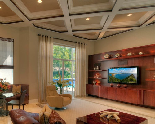 Floating entertainment center houzz for Floating wall units for living room