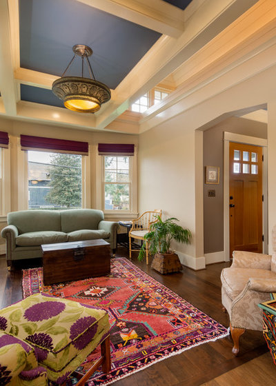 Craftsman Living Room by emily lauderback design and color consultation