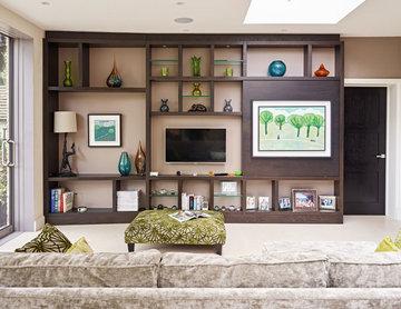 Walnut & Glass Display