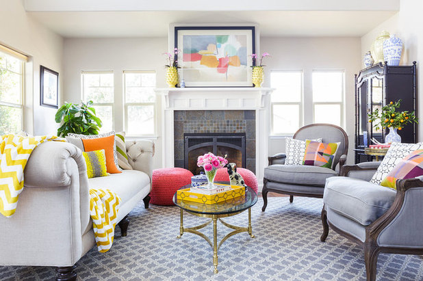 Contemporary Living Room by Leslie Harris-Keane Interior Design