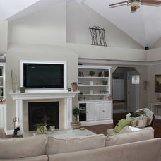 Traditional Living Room by Kern's Construction