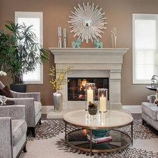 Contemporary Living Room by International Custom Designs