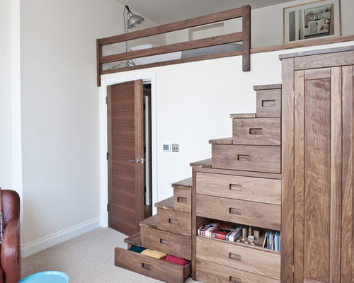 75 Most Popular Staircase Design Ideas For 2019: Storage Above Stairs