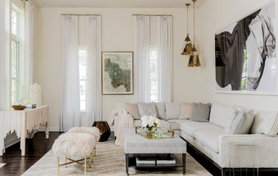 Houzz Tour: Designer's Home Is Stylish, Serene and All in Cream