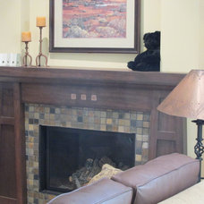 Traditional Living Room by Prairie Point Interiors Inc