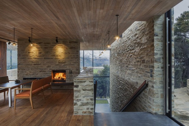 Picture perfect 26 new zealand fireplaces to warm up beside - Maison industrielle dorrington architects ...
